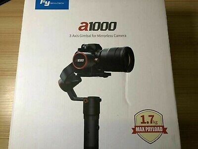 Used Feiyu A1000 3-Axis Gimbal for Camera 1.7kg Payload