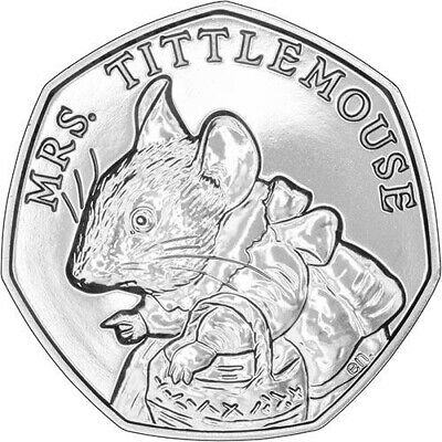 "New 50p ""Mrs Tittle Mouse"" 2018"