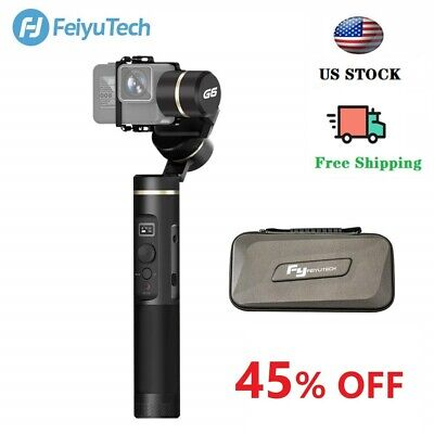 Used Feiyu G6 3-Axis Splashproof Gimbal WIFI Bluetooth OLED Screen