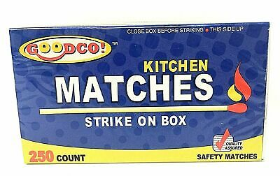 Goodco Kitchen Matches Strike on Box 250 Count Pack of 2