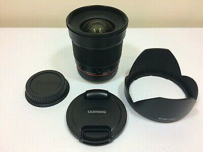 Samyang 2.0/16mm CA ED AS UMC CS Lens For Canon EF Mount - Very Good Condition!