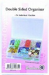 Hemline M3014 | Transparent Medium Bead/Button Box/Organiser | 7½ x 11 x 3cm
