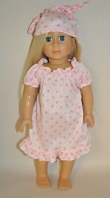"""American Girl Doll Our Generation Journey 18"""" Dolls Clothes Pink Nightie Pj's"""
