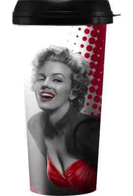 73871352814 MARILYN MONROE TRAVEL Mug- American Icon- American flag red lips ...