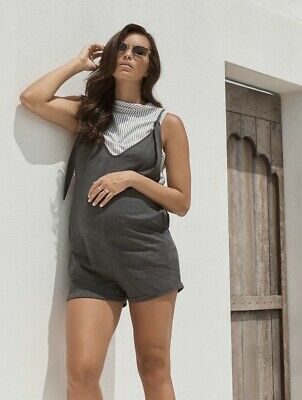 NEW - Legoe Heritage - Chalet Maternity Pregnancy Playsuit in Charcoal