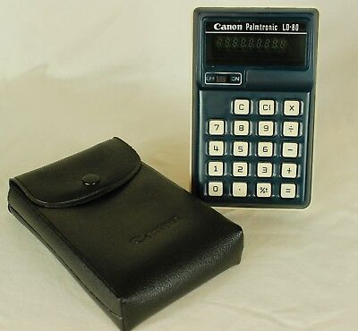 CANON PALMTRONIC CALCULATOR with Vinyl Case, LD-80