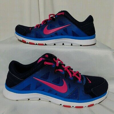 871e8794a366 NIKE FLEX SUPREME TR 2 Women s Blue Pink Running Athletic Shoes Size 10