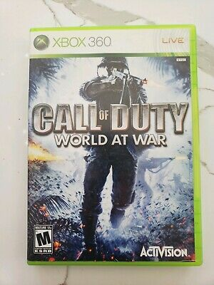 CALL OF DUTY WORLD AT WAR Xbox 360 FREE FAST SHIPPING