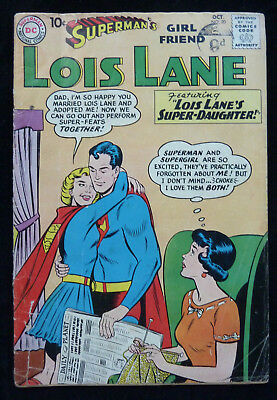 Superman's Girl Friend LOIS LANE #20 Featuring Supergirl - Oct 1960 GD+ 2.5