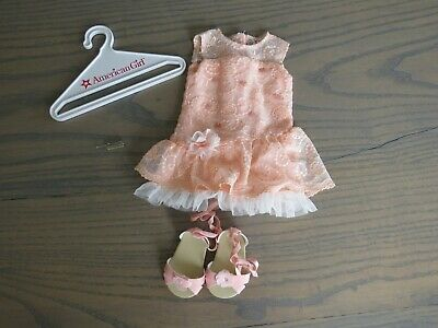 American Girl Doll Shimmer & Lace Outfit~Peach Spring Dress~Free ship