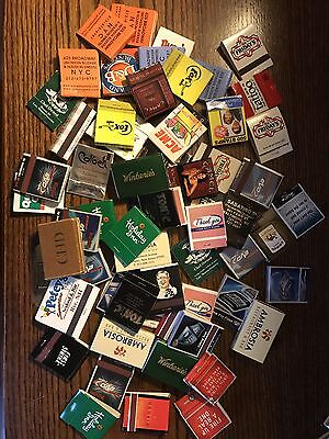 Lot Of 61 Matchbook Cover Matches