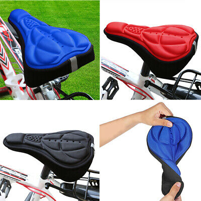 Skybulls Cycling Bike 3D Silicone Gel Pad Seat Saddle Cover Bicycle Seat Cushion