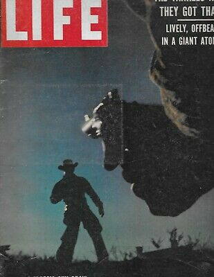 "LIFE MAGAZINE September 29, 1958 "" CLASSIC GUN DRAW IN THE BIG COUNTRY"""