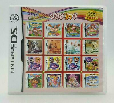 486 Games in 1 NDS video Game Pack Card Cartridge for DS 3DS