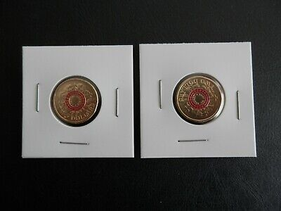 LEST WE FORGET -  Red 2015 & 2018  Anzac  Two Dollar Coin
