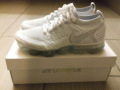 Nike Air Vapormax Flyknit 2 White Vast Grey Platinum Mens Size 10.5  942842-105
