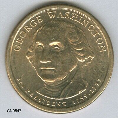 Usa  -  2007 'd' One Dollar George Washington Presidential Coin Money (Cn0547)