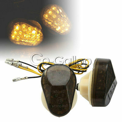 Flush Mount Turn Signals Combo 03-06 CBR600RR SEQUENTIAL LED Tail Light SMOKED