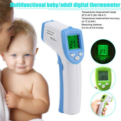 Non-Contact Baby Thermometer Digital Forehead Infrared Medical Adult Body Care