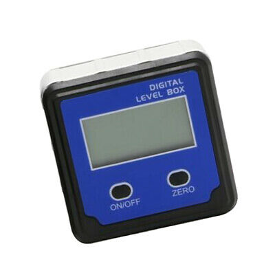LCD Protractor Inclinometer Angle Meter Finder Gauge Level-Box Magnetic Blue