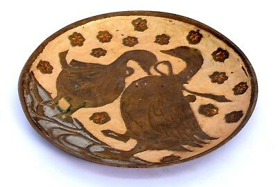 Vintage Brass Indian Handcrafted Beautiful Serving Plate Decorative. i20-51 US