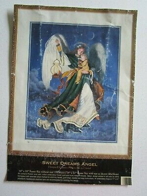 The Gold Collection Crewel Embroidery Kit Of Sweet Dreams Angel