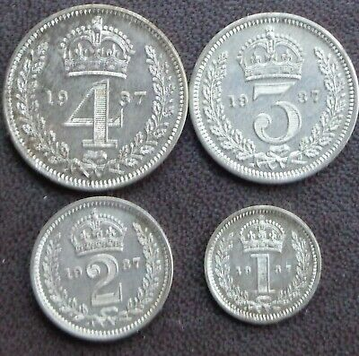 1937 George VI Maundy Money 4 Coin Set