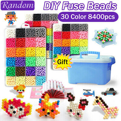 8 Types Fuse Beads Water Sticky Beads Template Puzzle Craft Christmas Gifts