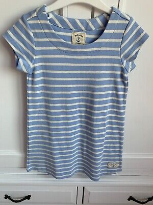 Joules Girls Blue and White Stripe Dress / Long Top Age 3-4