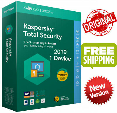 Kaspersky Total Security 2019 Global Key/ 1 Device/ 1 Year /PC-Mac-Android