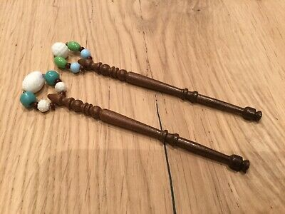 Pair of Spangled Lace bobbins