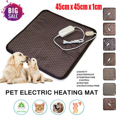 45x45 Waterproof Pet Heated Mat Warmer Bed Pad Puppy Dog Cat Bed Electric Heater