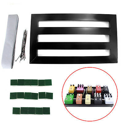Guitar Effect Pedalboard Portable Effects Pedal Board With Adhesive Backing