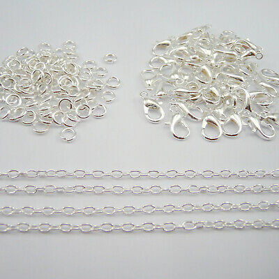 Jewellery Making Findings Silver Plated Chain, Clasps, Jump Rings SD1