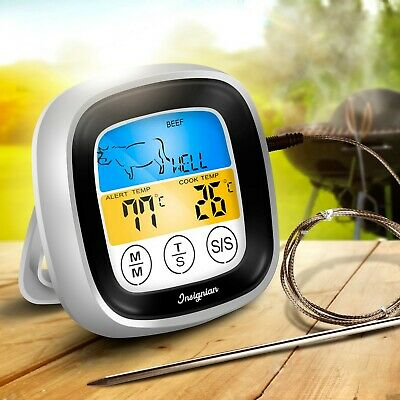 Digital Cooking Food Meat Kitchen Thermometer Stab Probe Temperature 8 Presets