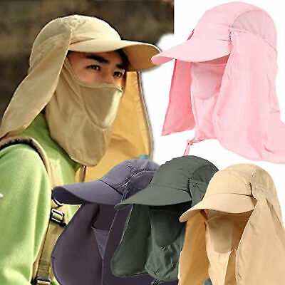 Legionnaire Cap Sun UV Protection Neck Flap Ear Face Cover Long Hat Fold Up SPM