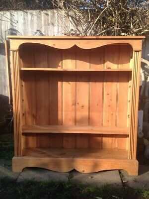 Solid Antique Pine Welsh Dresser Top Shelving Unit. Wall Mountable. Good Con