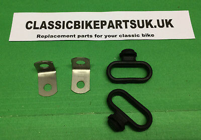 Triumph T25S T25T Tr5T 97-3682 H119 Pair Brake Cable Guide And Bracket Stainless