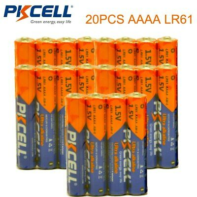 20 pièces PKCELL 1.5 V batterie AAAA LR61 pile alcaline MN2500 E96 4A piles