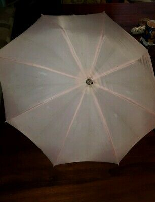 Vintage 1960's Childrens Umbrella and Fabric Parasole with Ruffle to Repair toys