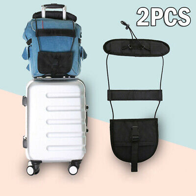 2* Travel Luggage Suitcase Adjustable Tape Belt Add A Bag Strap Carry On Bungee