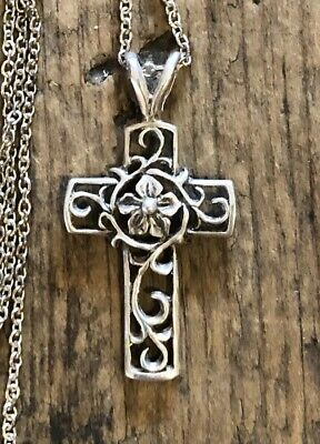Jezlaine Beautiful Designed Sterling Silver Cross Pendant for Necklace by JEZ