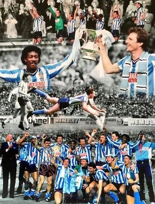 Micky Gynn SIGNED Huge 16x12 Coventry City 1987 FA Cup Winners Photograph COA