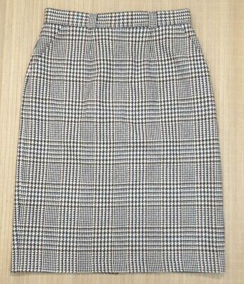 """Vintage St Michael Skirt Pure New Wool Houndstooth Check Lined Size 18- 32""""Waist"""