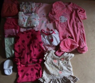 Large Baby Girls Clothes Bundle Age 0-3 Months Free Post  Kids
