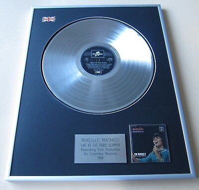 MIREILLE MATHIEU Live At The Paris Olympia PLATINUM PRESENTATION DISC
