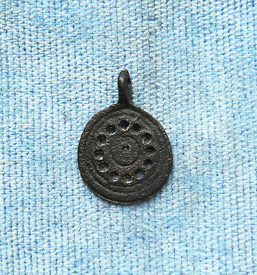 Ancient Viking Bronze pendant AMULET GREAT SAVE