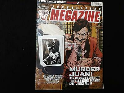 Judge Dredd Megazine volume 5  issue 231 with playing cards free gift (LOT#6720)