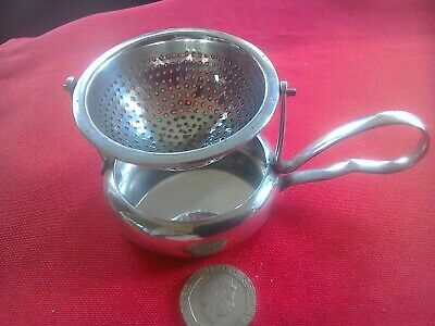 "Rare vintage WMF silver plate tea strainer ""swinging cradle"" style"
