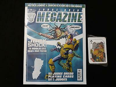 Judge Dredd Megazine volume 5 issue 229 with playing cards free gift (LOT#6721)